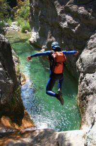 Wasserschuhe beim Canyoning